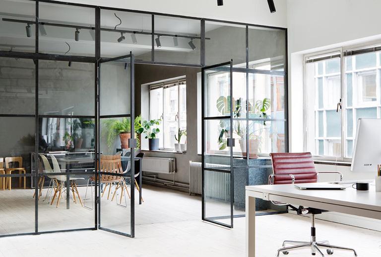 Stilfuldt kontor med sjæl