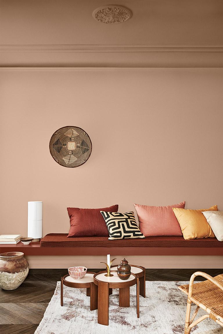 Hyggelig atmosfære med varme og rustikke farver